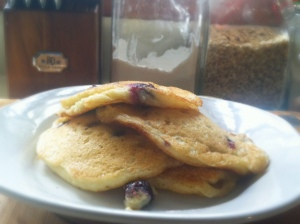 blueberry sour dough pancakes