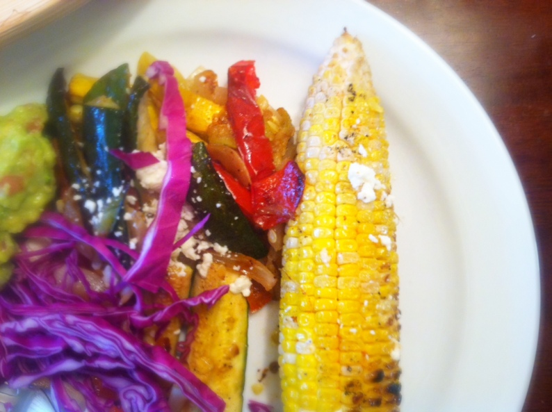 Grilled Summer Squash Medley w:Red Cabbage