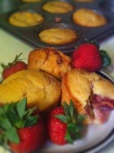 Strawberry Corn Muffins