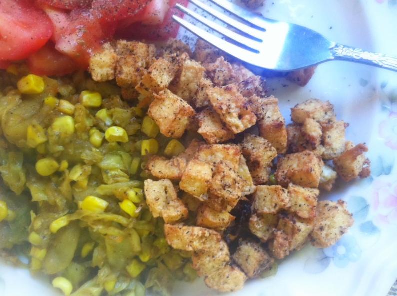 Succotash of Corn, Apple & Cabbage