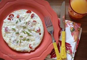 tomato egg white omelet