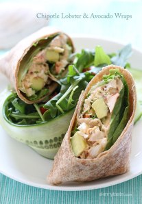 chipotle lobster-and-avocado-wrap