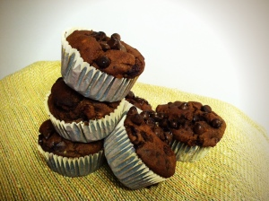 Double Chocolate cherry muffins II