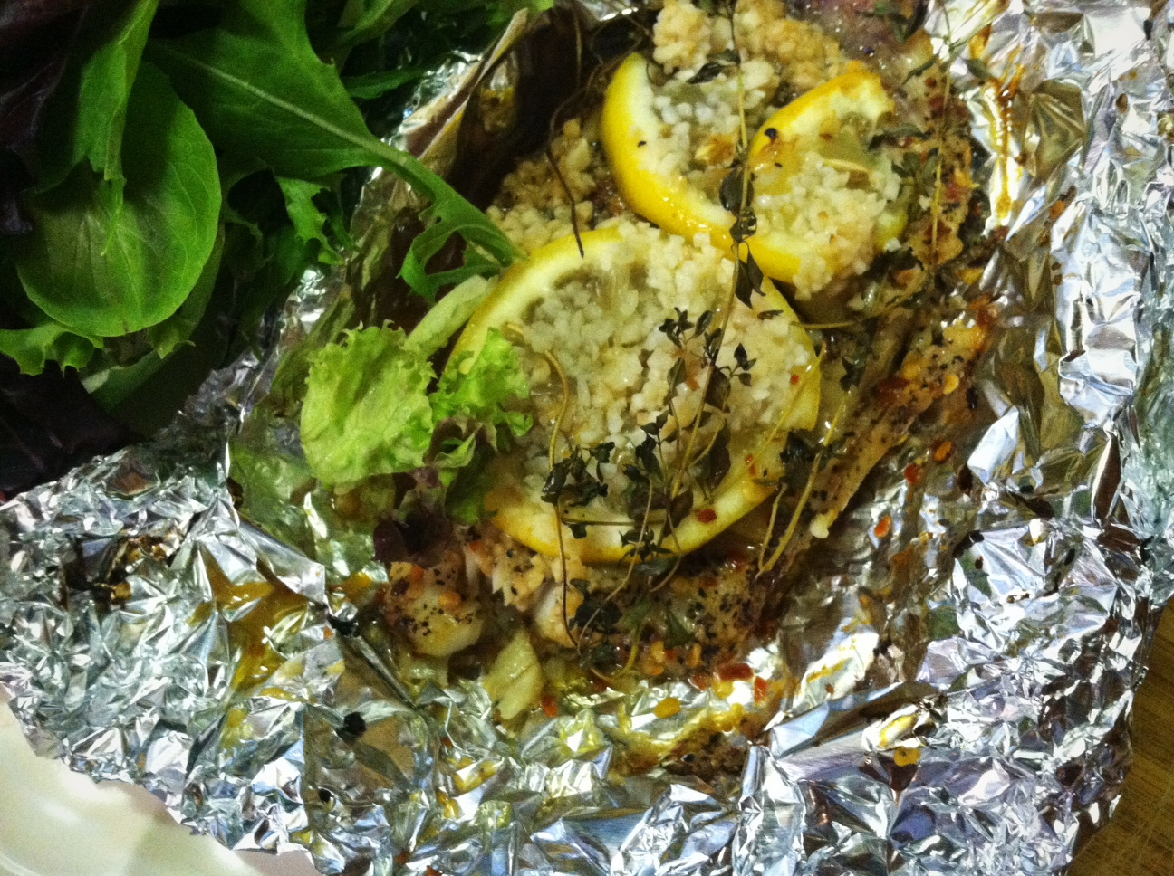Recipes for free lemon thyme talapia the gluten free for Fish thyme menu