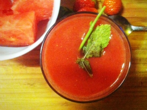 minted strawberry melon