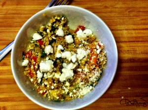 Quinoa w:spinach and feta