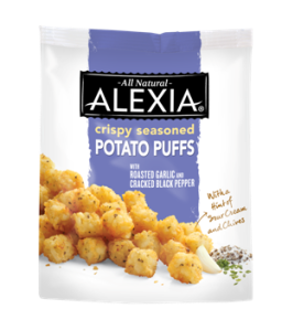 Gluten free product review: Alexia crispy seasoned potato puffs w/roasted garlic