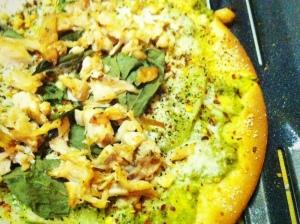 Tomato pesto pizza I