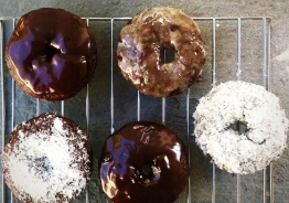 Chocolate Chai Glazed donuts