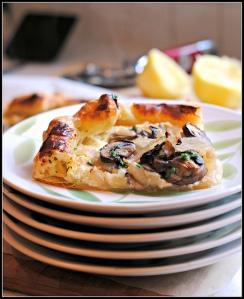 mushroom and feta tart