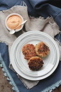 crispy_quinoa_cakes_with_roasted_red_pepper_cashew_cream