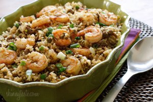 dirty brown-rice-with-shrimp