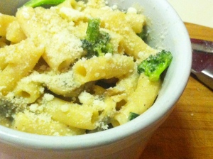 Mushroom and Broccoli Mac and Cheese