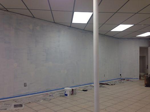 beige wall