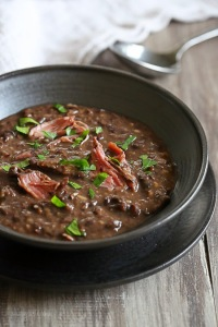 smoked turkey black bean soup