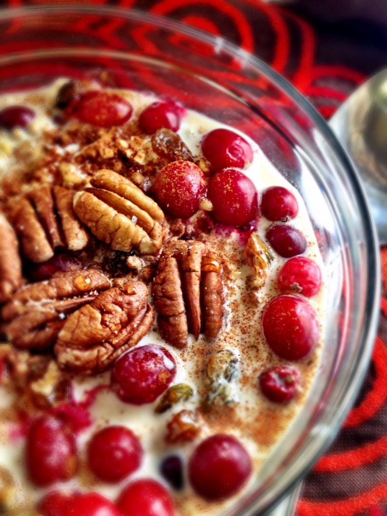Cranberry MAple Pecan Overnight Oats I