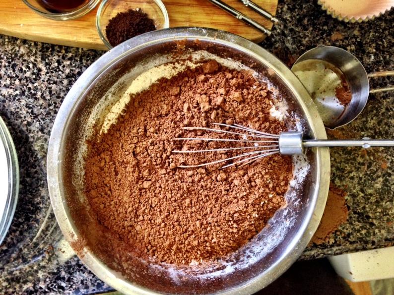 chocolate cupcakes flour mix