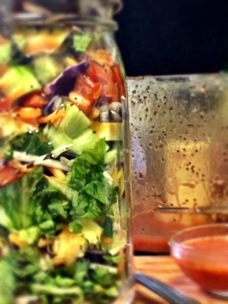 Layered & Chopped Mason Jar SaladFULL