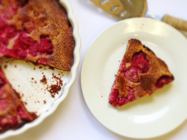Raspberry Almond Tart I