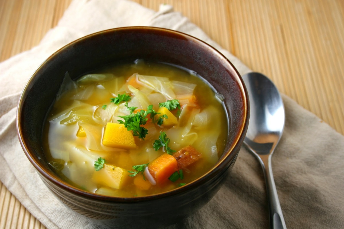 Hearty Sweet Potato Cabbage Soup (VEGAN)