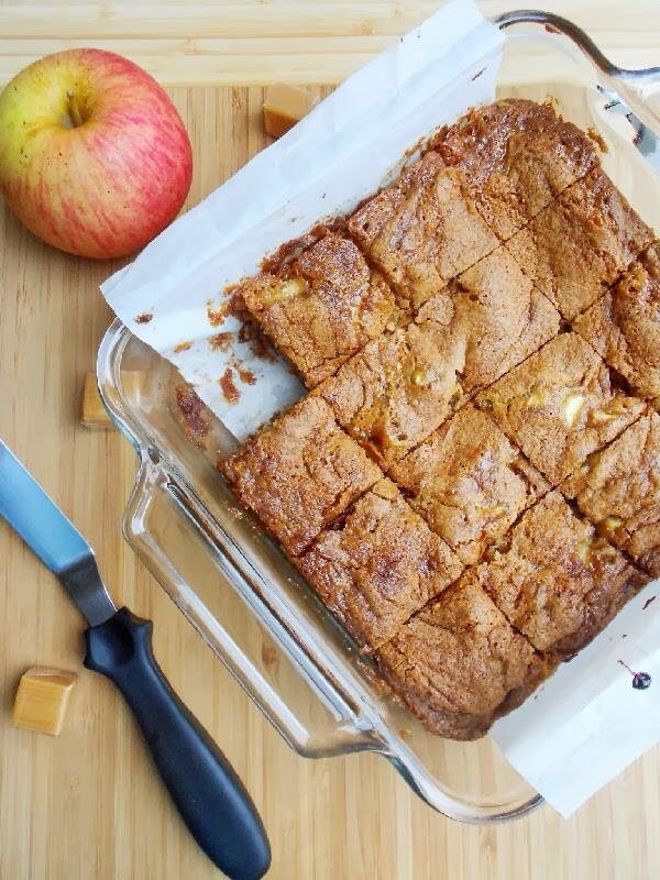 Caramel Apple Blondies top