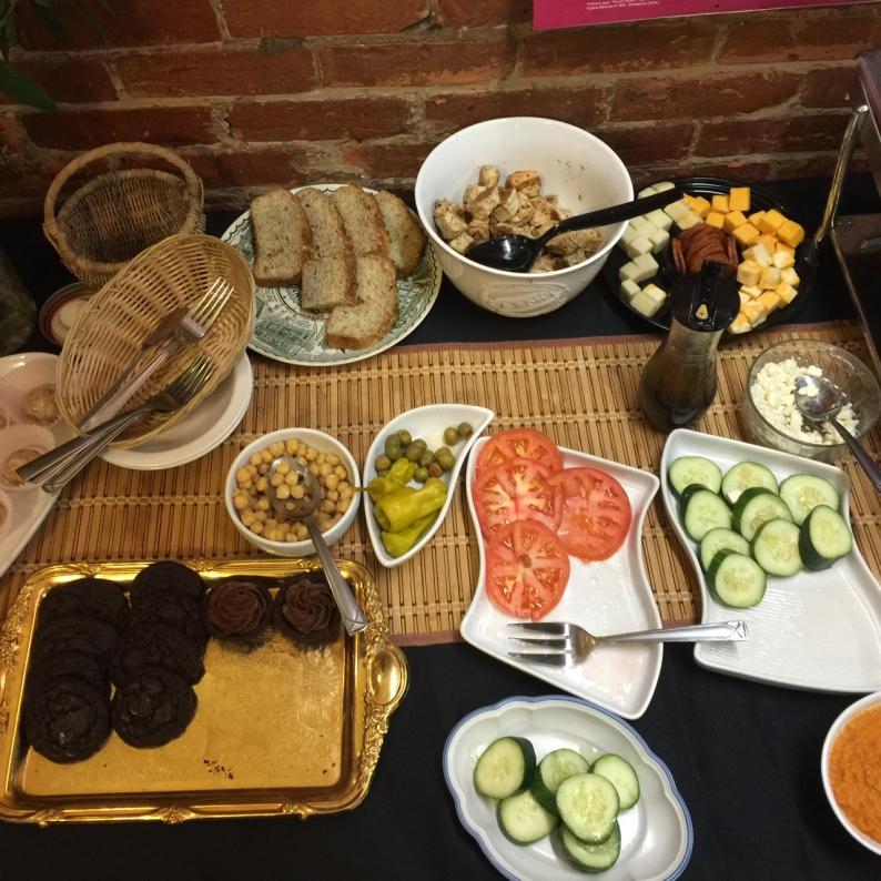 blackout dinner buffet