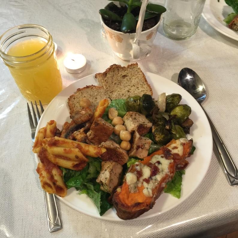 blackout dinner plate