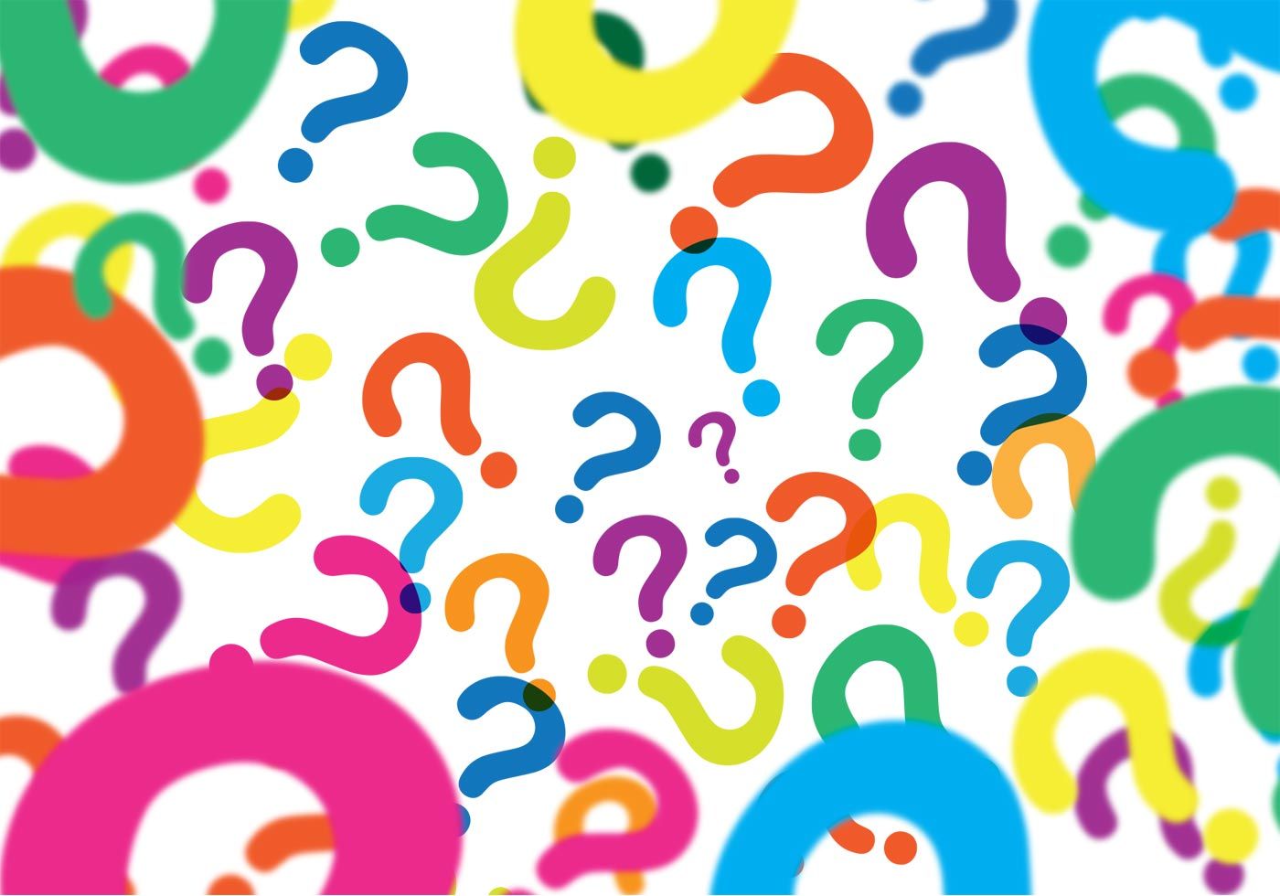 Coloring pages question mark - Question Marks Background