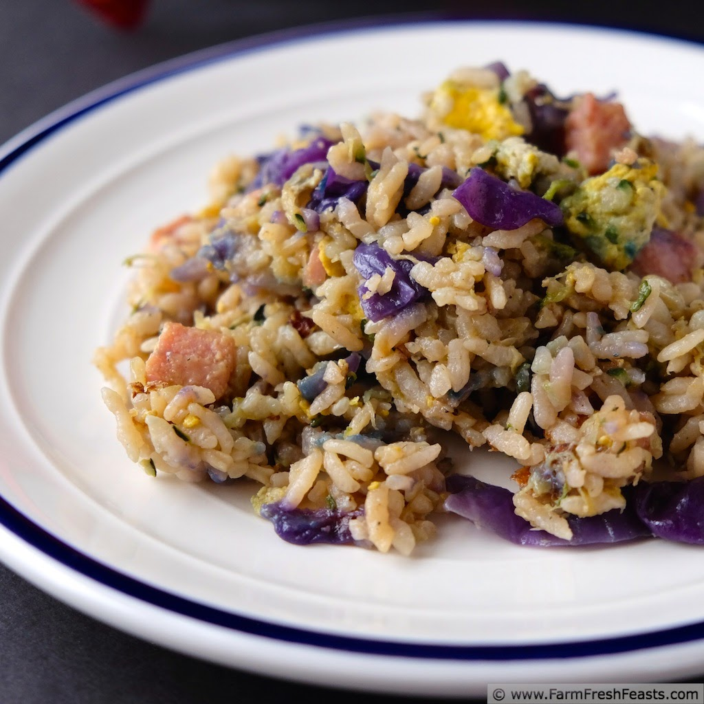 Red Cabbage And Fried Mortadella Okonomiyaki Recipes: Spicy Zucchini & Red Cabbage Fried Rice